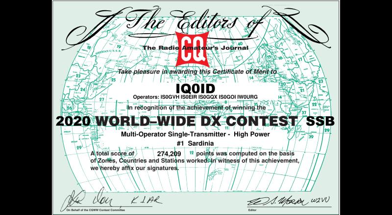 CQWW 2020 SSB IQ0ID